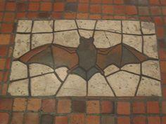 PA Capitol Harrisburg Bat mosaic.