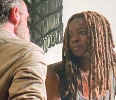 Still In Love With Richonne Michonne Walking Dead, Rick And Michonne, The Walking Dead, Netflix, Still In Love, Stuff And Thangs, Black Women, Dreadlocks, Dandy
