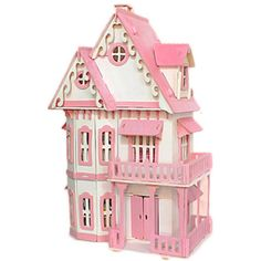 DIY Wood Dream House With Light Miniature And Furniture Large Villa Sale - Banggood.com