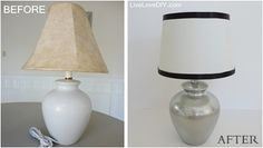 Spray paint an old lamp. Like new again! Top 10 Thrift Store Shopping Tips: How To Decorate on a Budget