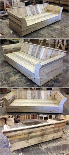 Pallets made sofa plan # pallet furniture - Pallet Projects Garden Wood Pallet Furniture, Furniture Projects, Rustic Furniture, Diy Furniture, Furniture Online, Furniture Stores, Luxury Furniture, Palette Furniture, Furniture Websites