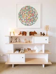 white and light wood nursery, oeuf available at UrbanBaby