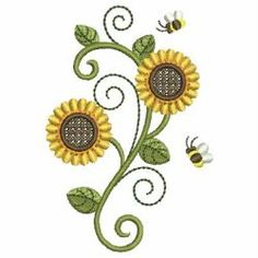 Sunflowers 09 machine embroidery designs