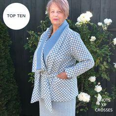 Marie's entry Crosses, Knots, Competition, The Incredibles, Blazer, Sewing, Pattern, Shirts, Fashion