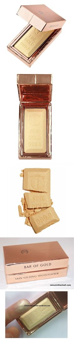 Charlotte Tilbury Bar of Gold Skin Gilding Highlighter | Fall 2015 | already available in the UK, but not in the USA. Nail Design, Nail Art, Nail Salon, Irvine, Newport Beach