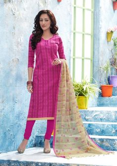 Adorable Pink Cotton Salwar Kameez2085