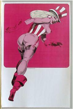 Lady Liberty (Supergirls pin-up) by Jim Steranko (1971)