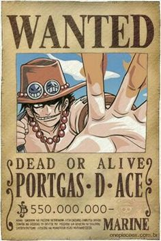 Ace - one piece wanted One Piece Ace, One Piece Seasons, One Piece Figure, One Piece Luffy, One Piece World, Otaku Anime, Anime Echii, Anime Japan, Zoro
