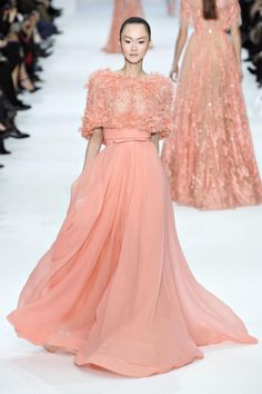 Peach Wedding Dress  Elie Saab 2012-2013