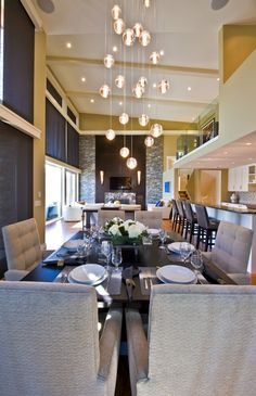 While I love the dining area, I love the light fixture more.. :)