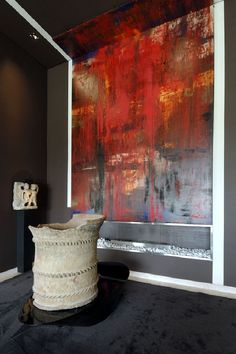 Abstract Wall Paint up to ceiling