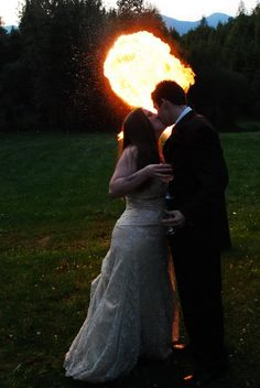 Fire Breather at Wedding....too much...KG thinks not ;)