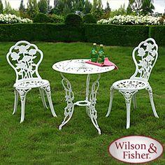 Amazing Wilson U0026 Fisher® White Rose Case Iron Bistro Set $99 Set Durable, Epoxy  Powder