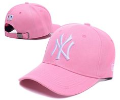 Men s   Women s New York Yankees New Era Classic 3D NY Logo MLB Baseball  Adjustable Hat - Pink   Whtie fda1616ca9e