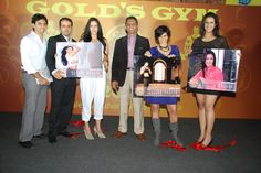 Launch of 'Gold Gym Calendar 2011' at Bandra on January 24, 2011.
