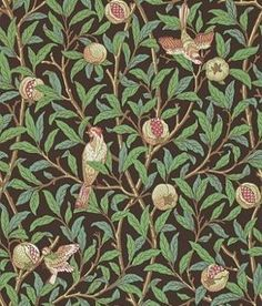 ♥ ♥ William Morris Wallpaper ♥ ♥ Bird & Pomegranate