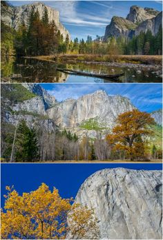 Beautiful fall colors in the Yosemite Valley. Autumn is the perfect time to visit Yosemite National Park in California.