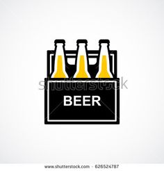 Beer box 6 pack flat icon