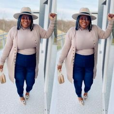 Outfits With Hats, Stylish Outfits, Fall Outfits, Cute Outfits, Fashion Outfits, Fasion, Fashion Tips, Curvy Girl Outfits, Curvy Women Fashion