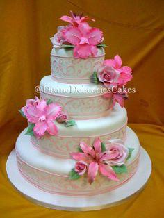 Divine Delicacies Fondant Wedding Ckes, Best Wedding Cakes in Miami