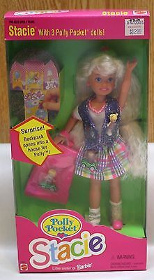 BARBIE DOLL POLLY POCKET STACIE LITTLE SISTER OF BARBIE 1994 NRFB #12982 {I'd play with this Stacie at my neighbor's house - good times!}