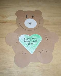 Homemade Father's Day Card - I love Daddy Beary much