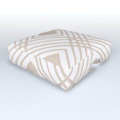 Criss Cross Diamond Pattern In Tan Outdoor Floor Cushion by Becky Bailey - x x Outdoor Floor Cushions, Floor Pillows, Bed Pillows, Diamond Pattern, Criss Cross, Yard, Weather, Handle, Comfy