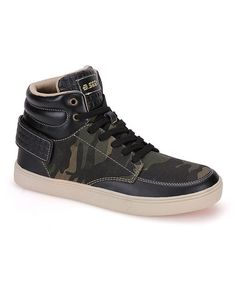 Another great find on #zulily! Black Camo Hi-Top Sneaker #zulilyfinds