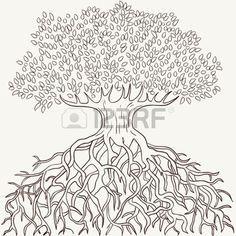 tree roots Tattoo Pinterest Scratchboard Art illustrations