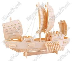 3D Wooden Puzzle - 8 Scull Sailer Ship Model