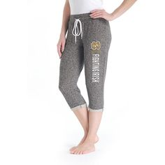 Women's College Concepts Notre Dame Fighting Irish Turf Knit Capris, Size: Medium, Grey Other