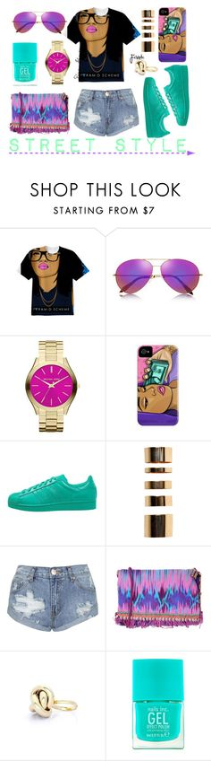 """Street Style"" by adswil ❤ liked on Polyvore featuring Victoria Beckham, MICHAEL Michael Kors, adidas Originals, Boohoo, Topshop, Matthew Williamson, Nails Inc. and Fevrie"