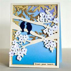 Delicately beautiful Trust Your Heart Card by Iwona Palamountain aka Chupa