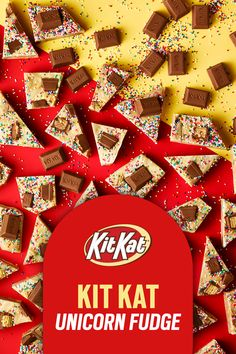 Kit Kat Recipes, Fudge Recipes, Dessert Recipes, Yummy Treats, Delicious Desserts, Sweet Treats, Doughnut Shop, Sugar And Spice, Chips