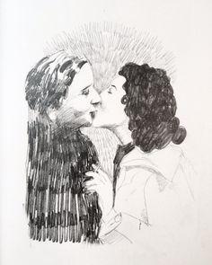 Kiss Kiss Pencildrawing  Ingjerd Tufto Instagram @intu Kiss, Illustrations, Instagram, Art, Art Background, Illustration, Kunst, Performing Arts, Kisses