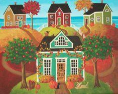 Hickory Hills Folk Art Print by KimsCottageArt on Etsy, $12.95