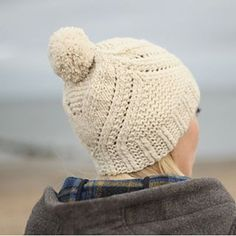 Our friend @gudrunjohnston just released an intriguing new hat pattern, Fidra, knit up in one skein of #QuarryYarn. (A great option for those of us with one more last-minute gift on our list, too!)