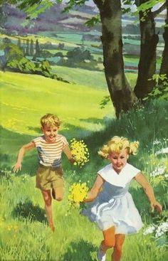 Retro Images, Vintage Images, Vintage Posters, Vintage Art, Ladybird Books, Retro Art, Vintage Children, Art Pictures, Illustrations Posters