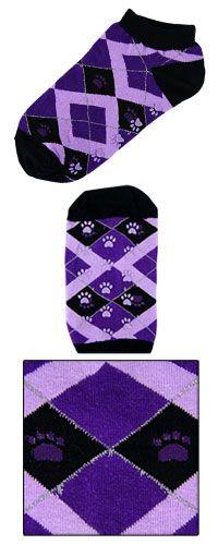 Purple Paw Argyle Slipper Socks at The Animal Rescue Site