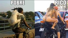 Pobre e rico de moto, Funny Images, Photos Online, Funny Jokes, is a funny way in life!