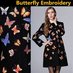 Find More Wool & Blends Information about DHL SALE  New Retro Heavy Butterfly Embroidered Wool Woolen Coat women Jacket  Warm Coat Brand Coat plus size S XXL,High Quality Wool & Blends from ShenZhen Runway Fashion Life International Trade Co., Ltd on Aliexpress.com