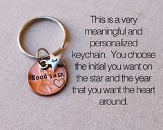 This lucky penny keychain would make the perfect gift for someone who is trying out for something they have been working hard for, for someone