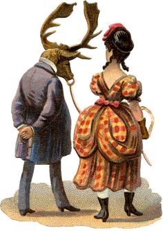 The Graphics Fairy: lady with elk man