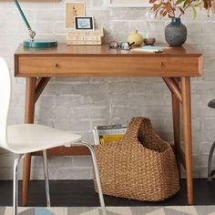 Pin it   If you think you can't fit a workspace into your tiny apartment, think again. The diminutive proportions and clever designs of these 14 desks makes them perfect for small spaces. No matter ho