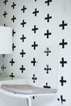 positive: urban walls - Vinyl Wall Sticker Decal Art - Plus Sign, via Etsy Kitchen Wall Stickers, Vinyl Wall Stickers, Empty Wall Spaces, Wall Treatments, Of Wallpaper, Kitchen Wallpaper, Home Decor Inspiration, Wall Signs, Decoration