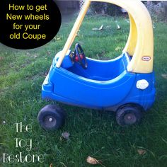 Wait! Don't throw out that old Cozy Coupe that's got a missing or broken tire!  Fix it!