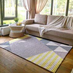 - [board_name] - Teppich Crochet Home Decor, Carpet, Interior, Rugs On Carpet, Handmade Home Decor, Home Decor, Rugs, Interior Rugs, Rug Pattern