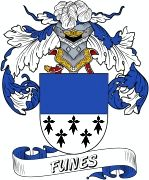 De Funes Spanish Coat Of Arms www.4crests.com #coatofarms #familycrest #familycrests #coatsofarms #heraldry #family #genealogy #familyreunion #names #history #medieval #codeofarms #familyshield #shield #crest #clan #badge #tattoo #crests #reunion #surname #genealogy #spain #spanish #shield #code #coat #of #arms