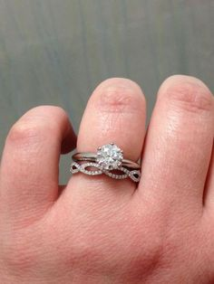 Show me your diamond wedding band with your solitaire e ring! - Weddingbee | Page 3