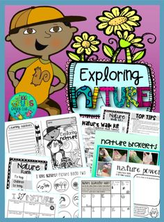 Escape the classroom and get your kids outdoors! Breath some fresh air, get… Escape The Classroom, Indoor Activities, Walking In Nature, The Great Outdoors, Booklet, Teaching Resources, Worksheets, Exploring, Environment